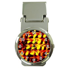 Yellow Seamless Abstract Brick Background Money Clip Watches