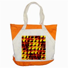 Yellow Seamless Abstract Brick Background Accent Tote Bag