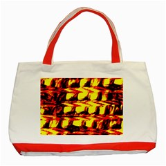 Yellow Seamless Abstract Brick Background Classic Tote Bag (red)