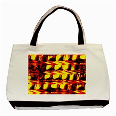 Yellow Seamless Abstract Brick Background Basic Tote Bag (Two Sides)