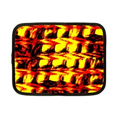 Yellow Seamless Abstract Brick Background Netbook Case (small)