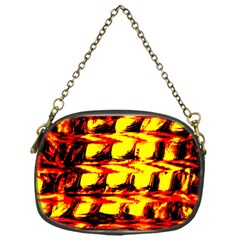 Yellow Seamless Abstract Brick Background Chain Purses (One Side)