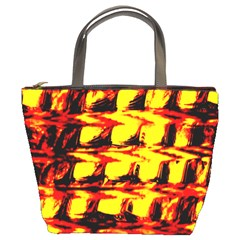 Yellow Seamless Abstract Brick Background Bucket Bags