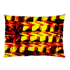 Yellow Seamless Abstract Brick Background Pillow Case