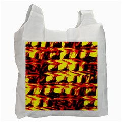 Yellow Seamless Abstract Brick Background Recycle Bag (two Side)