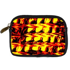 Yellow Seamless Abstract Brick Background Digital Camera Cases