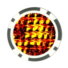Yellow Seamless Abstract Brick Background Poker Chip Card Guard (10 pack)