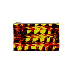 Yellow Seamless Abstract Brick Background Cosmetic Bag (Small)