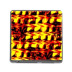 Yellow Seamless Abstract Brick Background Memory Card Reader (Square)