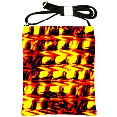 Yellow Seamless Abstract Brick Background Shoulder Sling Bags
