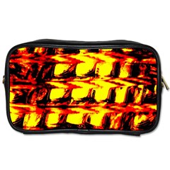 Yellow Seamless Abstract Brick Background Toiletries Bags 2-Side
