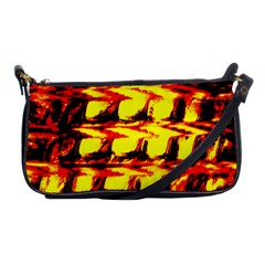 Yellow Seamless Abstract Brick Background Shoulder Clutch Bags