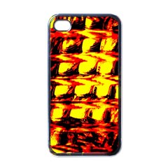 Yellow Seamless Abstract Brick Background Apple iPhone 4 Case (Black)