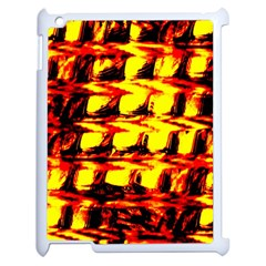 Yellow Seamless Abstract Brick Background Apple iPad 2 Case (White)