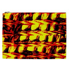 Yellow Seamless Abstract Brick Background Cosmetic Bag (xxl)