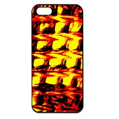 Yellow Seamless Abstract Brick Background Apple Iphone 5 Seamless Case (black)