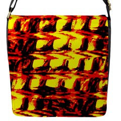 Yellow Seamless Abstract Brick Background Flap Messenger Bag (s)