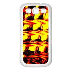 Yellow Seamless Abstract Brick Background Samsung Galaxy S3 Back Case (white)