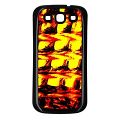 Yellow Seamless Abstract Brick Background Samsung Galaxy S3 Back Case (black)