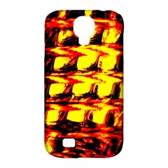 Yellow Seamless Abstract Brick Background Samsung Galaxy S4 Classic Hardshell Case (PC+Silicone)