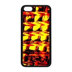 Yellow Seamless Abstract Brick Background Apple Iphone 5c Seamless Case (black)