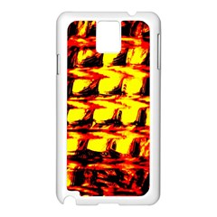 Yellow Seamless Abstract Brick Background Samsung Galaxy Note 3 N9005 Case (white)