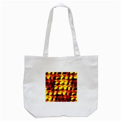 Yellow Seamless Abstract Brick Background Tote Bag (white)