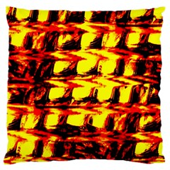 Yellow Seamless Abstract Brick Background Large Flano Cushion Case (one Side)