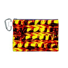 Yellow Seamless Abstract Brick Background Canvas Cosmetic Bag (m)