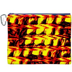 Yellow Seamless Abstract Brick Background Canvas Cosmetic Bag (XXXL)