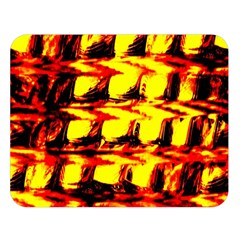 Yellow Seamless Abstract Brick Background Double Sided Flano Blanket (large)