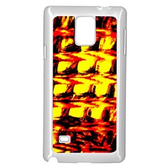 Yellow Seamless Abstract Brick Background Samsung Galaxy Note 4 Case (White)