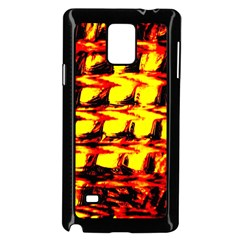 Yellow Seamless Abstract Brick Background Samsung Galaxy Note 4 Case (Black)