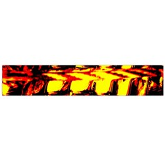 Yellow Seamless Abstract Brick Background Flano Scarf (large)