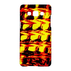 Yellow Seamless Abstract Brick Background Samsung Galaxy A5 Hardshell Case
