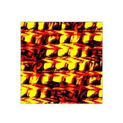 Yellow Seamless Abstract Brick Background Satin Bandana Scarf