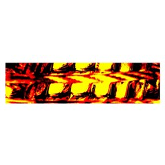 Yellow Seamless Abstract Brick Background Satin Scarf (Oblong)