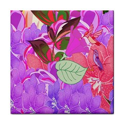Abstract Design With Hummingbirds Tile Coasters