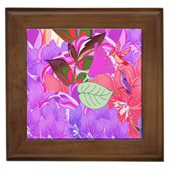 Abstract Design With Hummingbirds Framed Tiles