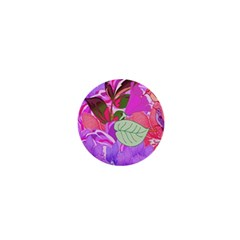 Abstract Design With Hummingbirds 1  Mini Buttons