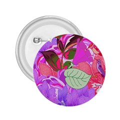 Abstract Design With Hummingbirds 2 25  Buttons