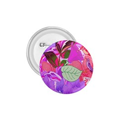 Abstract Design With Hummingbirds 1.75  Buttons