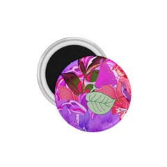 Abstract Design With Hummingbirds 1.75  Magnets