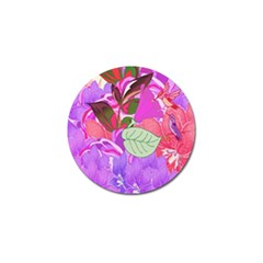Abstract Design With Hummingbirds Golf Ball Marker