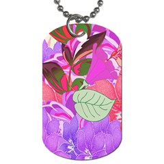 Abstract Design With Hummingbirds Dog Tag (two Sides)