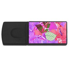 Abstract Design With Hummingbirds USB Flash Drive Rectangular (1 GB)
