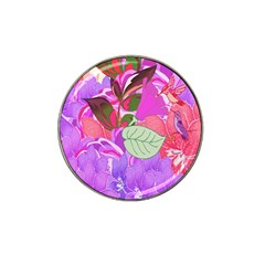 Abstract Design With Hummingbirds Hat Clip Ball Marker (4 Pack)