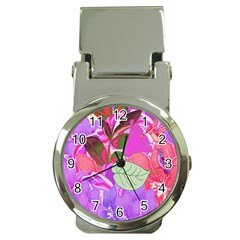Abstract Design With Hummingbirds Money Clip Watches