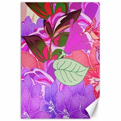 Abstract Design With Hummingbirds Canvas 20  X 30