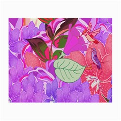 Abstract Design With Hummingbirds Small Glasses Cloth (2-Side)